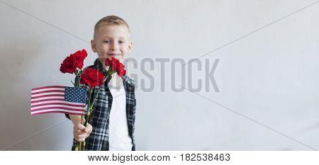 Proud  Boy Celebrates Memorial Day