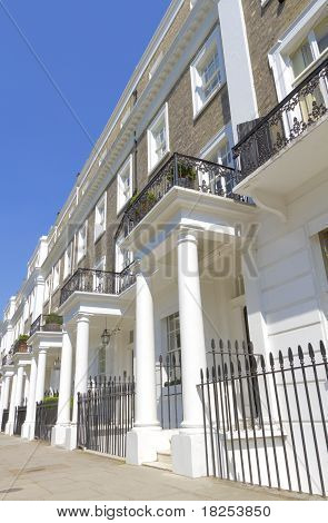 Typical Mansion blocks in West London UK poster