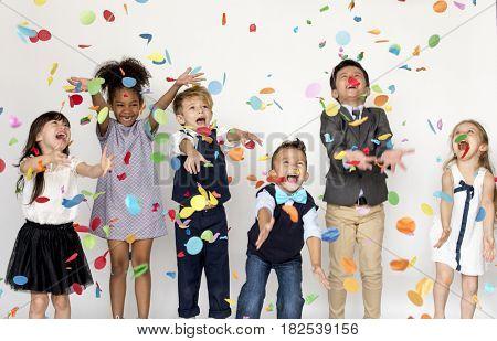 Group of Kids Party Event Festive Celebration