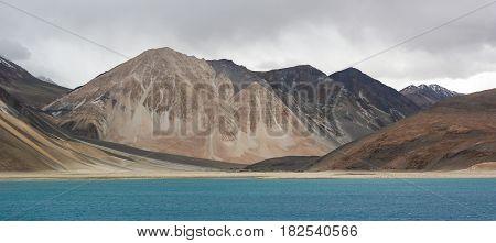 Pangong Lake In Leh, Ladakh, India