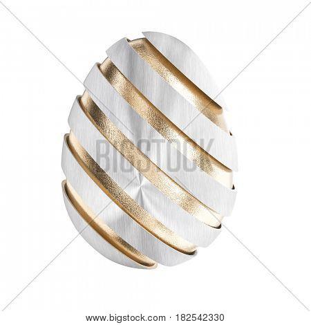 golden easter egg 3d rendering image