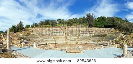 The Little Theatre of Ancient Epidaurus, Peloponnese, Greece