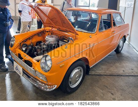 NAGOYA JAPAN - NOVEMBER 21 2015: Oldtimer Toyota car
