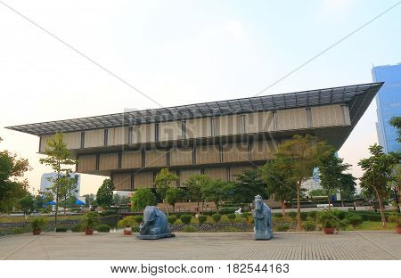 HANOI VIETNAM - NOVEMBER 23, 2016: Vietnam National Convention Centre. Vietnam National Convention Centre has 65,000 m2 of floor space built in 2006 by architect Meinhard von Gerkan.