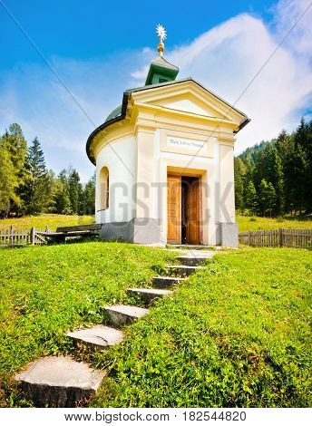 Small chapel with beautiful countryside in Pinzgau Salzburger Land Austria