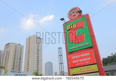 HANOI VIETNAM - NOVEMBER 23, 2016: Big C Supercenter. Big C Supercenter is a grocery and general merchandising retailer headquartered in Bangkok Thailand.