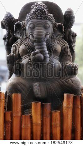 Close up of elephant statue