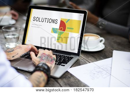 Solutions Creative Ideas Intelligence Concept