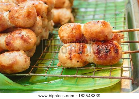 East Sausage Being Grilled, Thai Food Style.