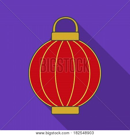 Korean lantern icon in flate style isolated on white background. South Korea symbol vector illustration.