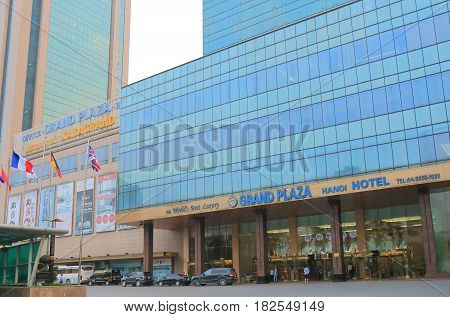 HANOI VIETNAM - NOVEMBER 23, 2016: Grand Plaza hotel. Grand Plaza is one of the most luxurious hotels in Hanoi.
