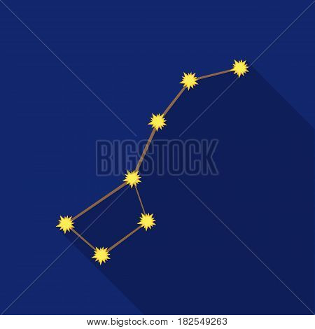 Ursa Major icon in flate style isolated on white background. Space symbol vector illustration.