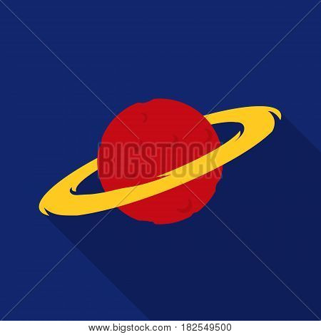 Saturn icon in flate style isolated on white background. Space symbol vector illustration.