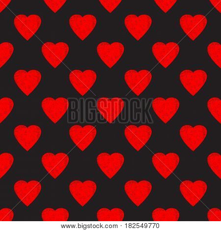 Vector seamless pattern background. Valentine's day grunge pattern. Love pattern. Elegant pattern for your tender design.