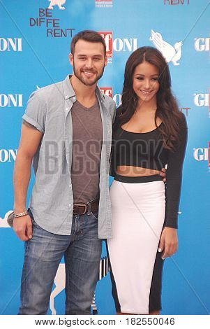 Giffoni Valle Piana Sa Italy - July 23 2014 : Ryan Guzman and Melanie Iglesias at Giffoni Film Festival 2014 - on July 23 2014 in Giffoni Valle Piana Italy