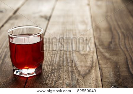 Red Alcohol Shot Drink