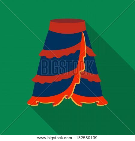 Flamenco skirt icon in flate design isolated on white background. Spain country symbol stock vector illustration.