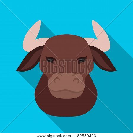 Head of bull icon in flate design isolated on white background. Spain country symbol stock vector illustration.
