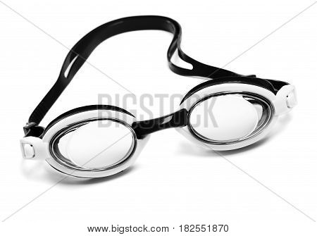 Black And White Goggles For Swimming