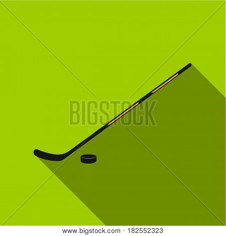 Hockey icon flate. Single sport icon from the big fitness, healthy, workout flate.