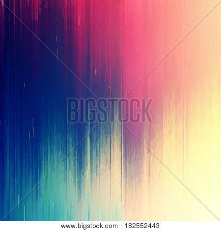 Vector glitch background. Digital image data distortion. Colorful abstract background for your designs. Chaos aesthetics of signal error. Digital decay. poster