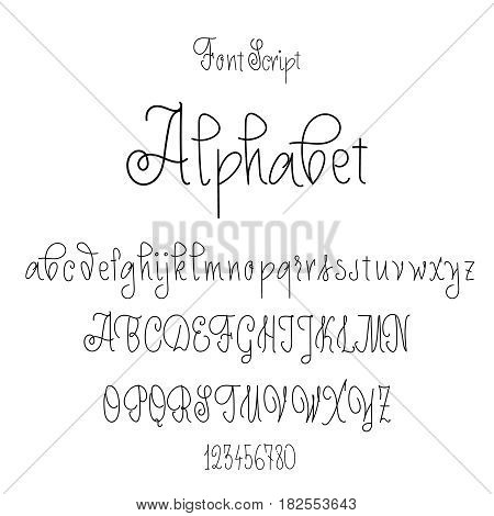 Vector Alphabet. Calligraphic font. Unique Custom Characters. Hand Lettering for Designs. Modern brush handwriting Typography.