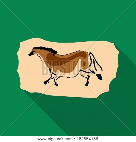 Cave painting icon in flate style isolated on white background. Stone age symbol vector illustration.