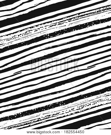 Vector hand drawn ink pattern of grunge brush strokes isolated on white background.