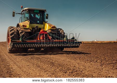 Working On Farm Land