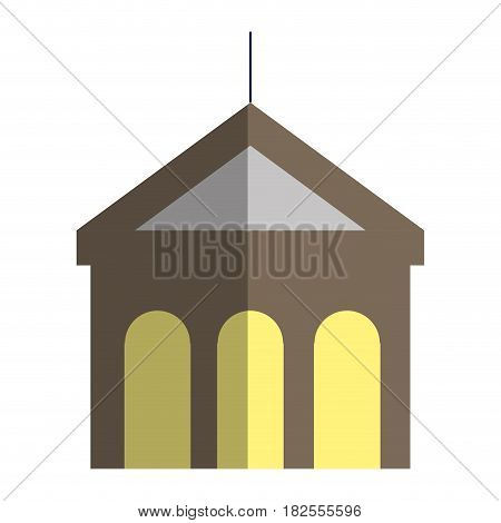 building with columns icon vector illustration design
