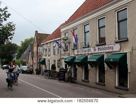 Friesland Franeker july 2016: traffic an street view