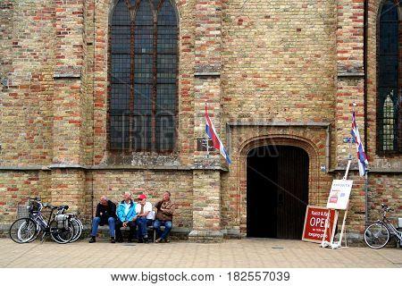 Friesland Franeker july 2016: martini church exterior