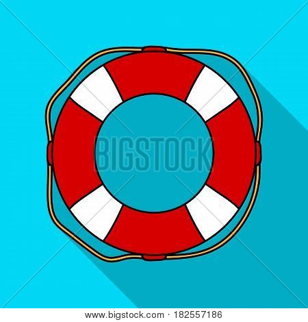 Lifebuoy icon in flate design isolated on white background. Surfing symbol stock vector illustration.