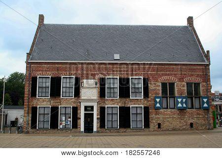Friesland Franeker july 2016: historic orphinage house
