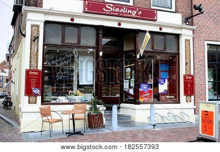 Friesland Franeker july 2016: historic Bakery shop