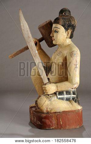 Burmese Statue Of Nat