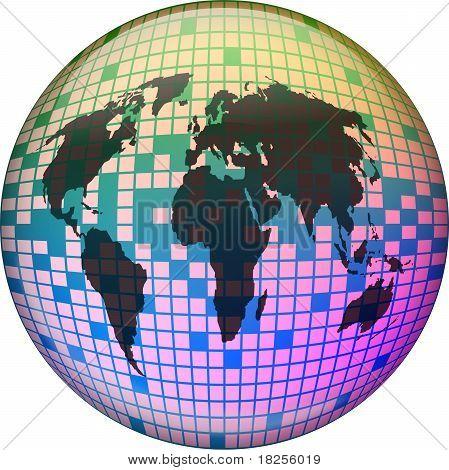 Pixel Globe