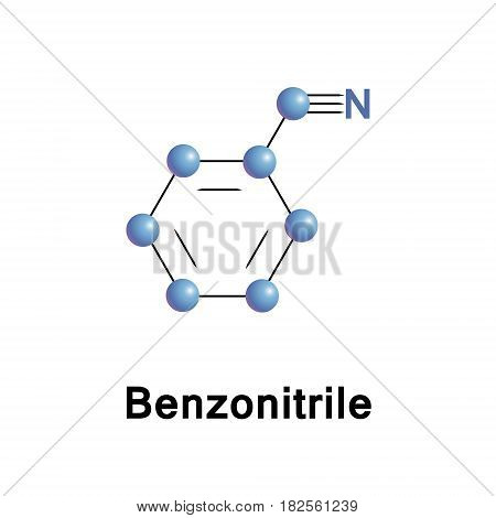Benzonitrile is the chemical compound with the formula C6H5CN, abbreviated PhCN. This aromatic organic compound is mainly used as a precursor to the resin benzoguanamine