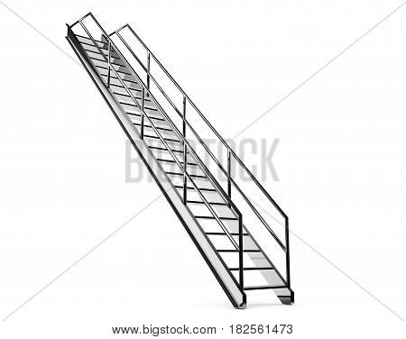 realistic 3d render of industrial stairs Lightweight, Functional, Stepladder, Footstool
