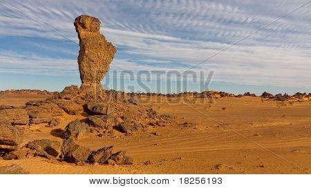 Finger Of Allah Rock Formation - Akakus (acacus) Mountains, Sahara, Libya