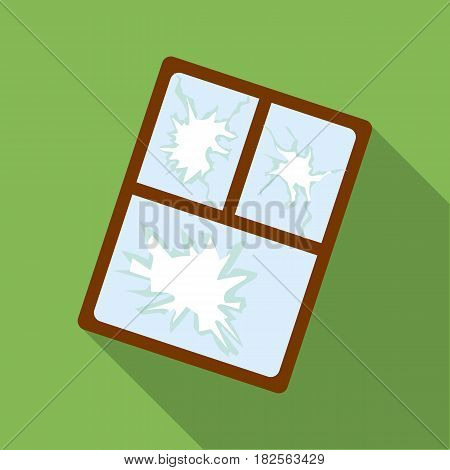 Broken window icon in flate style isolated on white background. Trash and garbage symbol vector illustration.