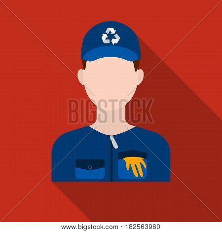 Waste collector icon in flate style isolated on white background. Trash and garbage symbol vector illustration.