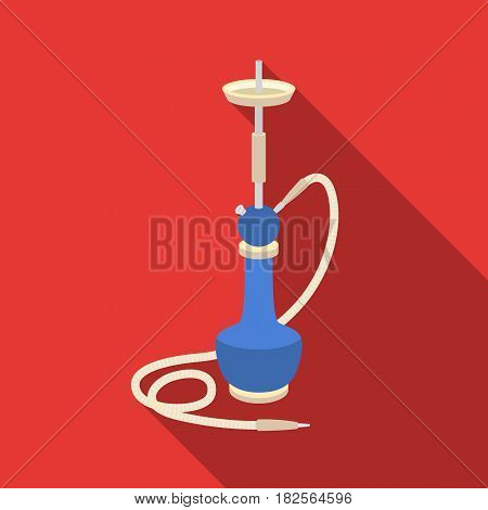 Hookah icon in flate style isolated on white background. Turkey symbol vector illustration.
