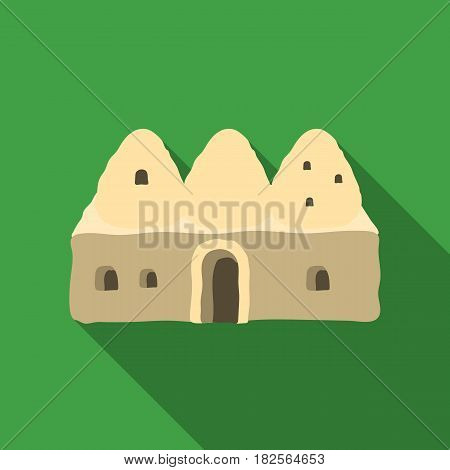 Beehive house icon in flate style isolated on white background. Turkey symbol vector illustration.