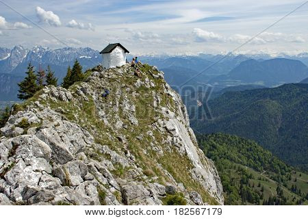 Chapel at the Brünnstein in the bavarian alps