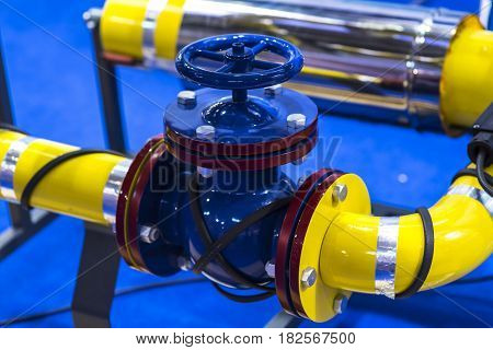 Pipes and valves. Good for a web site design.