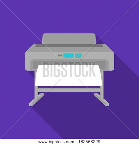 Large format printer icon in flate style isolated on white background. Typography symbol vector illustration.
