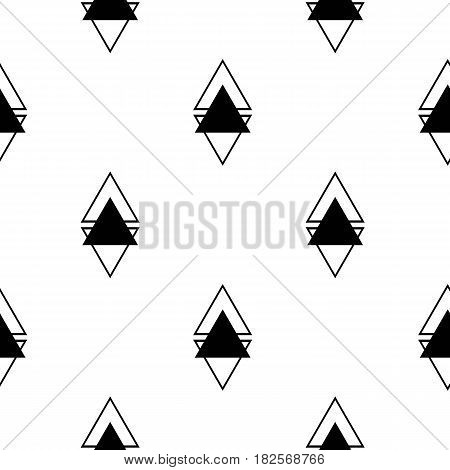 Scandinavian triangles seamless pattern. Geometric texture background. Stock vector.