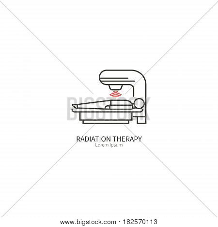 Radiation therapy vector illustration The concept of health