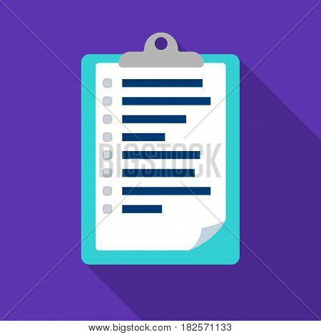 Veterinary pet health card icon in flate design isolated on white background. Veterinary clinic symbol stock vector illustration.